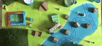 Naturo, une ville construite autour d'un lac de petites collines et tournée vers la nature, le sport et les loisirs